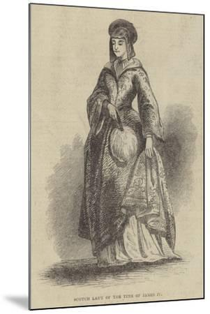 Scotch Lady of the Time of James IV--Mounted Giclee Print