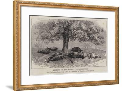 Effects of the Recent Thunderstorm--Framed Giclee Print