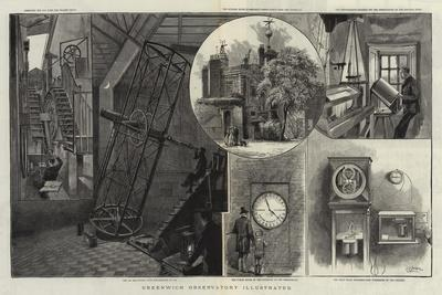 Greenwich Observatory Illustrated--Framed Giclee Print