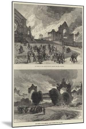 The Burning of the Alexandra Palace--Mounted Giclee Print