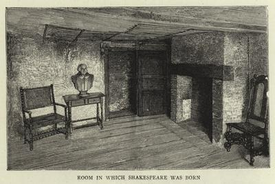 Room in Which Shakespeare Was Born--Framed Giclee Print