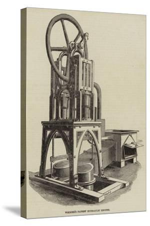 Walker's Patent Hydraulic Engine--Stretched Canvas Print