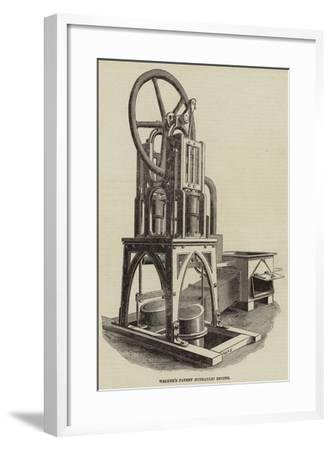 Walker's Patent Hydraulic Engine--Framed Giclee Print