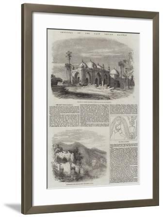 Sketches on the East Indian Railway--Framed Giclee Print