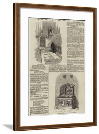 Shakespere and Stratford-Upon-Avon--Framed Giclee Print