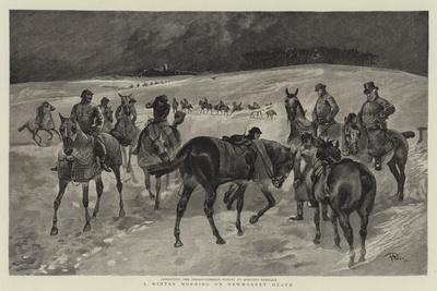 A Wintry Morning on Newmarket Heath--Framed Giclee Print