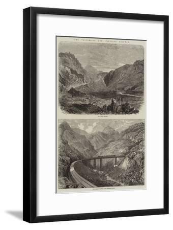 The Valparaiso and Santiago Railway--Framed Giclee Print