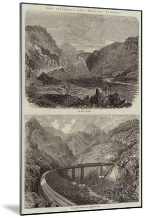 The Valparaiso and Santiago Railway--Mounted Giclee Print