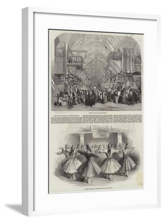 The Drug Bazaar at Constantinople--Framed Giclee Print