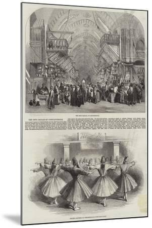 The Drug Bazaar at Constantinople--Mounted Giclee Print