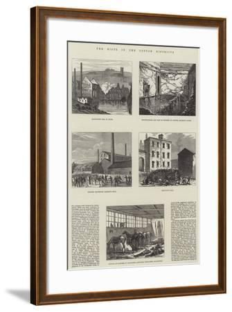 The Riots in the Cotton Districts--Framed Giclee Print