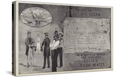 Advertisement for Ellis's Soda Water--Stretched Canvas Print
