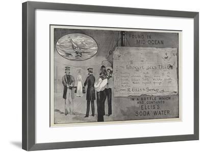 Advertisement for Ellis's Soda Water--Framed Giclee Print