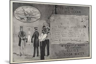 Advertisement for Ellis's Soda Water--Mounted Giclee Print