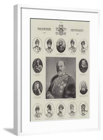 The Volunteer Centenary, 1799-1899--Framed Giclee Print