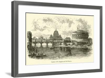 Castle of St Angelo and St Peter's--Framed Giclee Print