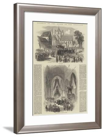 Funeral of the Queen of the Belgians--Framed Giclee Print