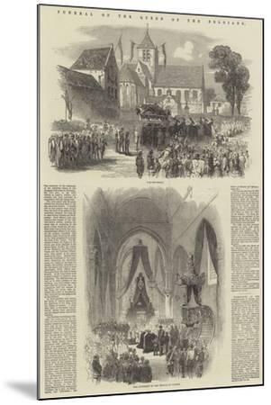 Funeral of the Queen of the Belgians--Mounted Giclee Print