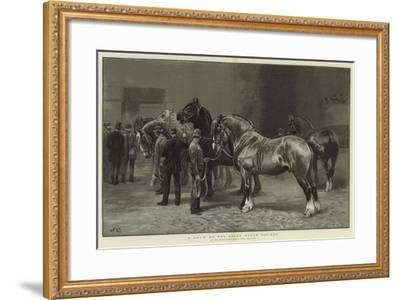 A Show of the Shire Horse Society--Framed Giclee Print