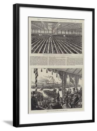 The Queen's Jubilee Festival, 21 June--Framed Giclee Print