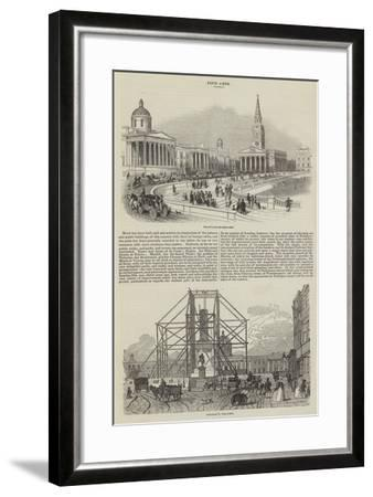 Sketches of Trafalgar Square--Framed Giclee Print