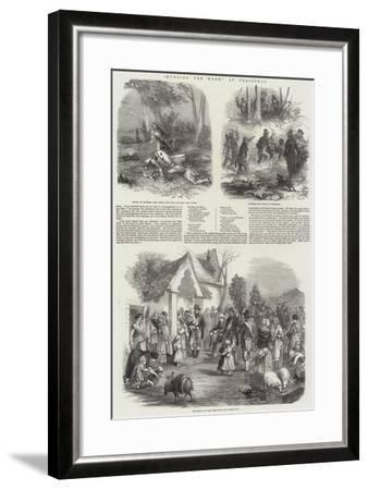 Hunting the Wren, at Christmas--Framed Giclee Print