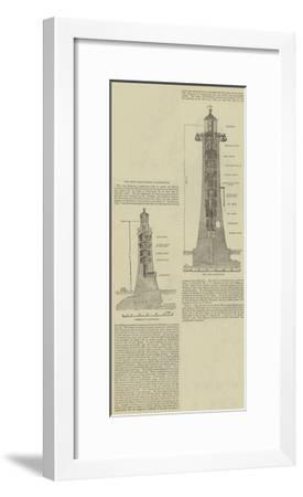 The New Eddystone Lighthouse--Framed Giclee Print