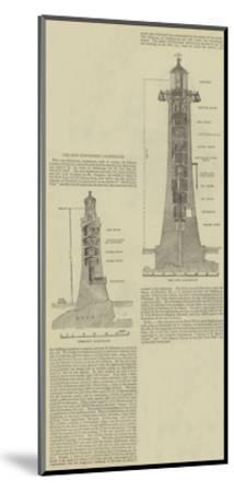 The New Eddystone Lighthouse--Mounted Giclee Print