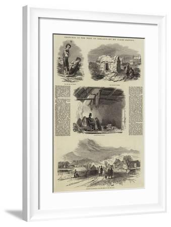 Sketches in the West of Ireland--Framed Giclee Print