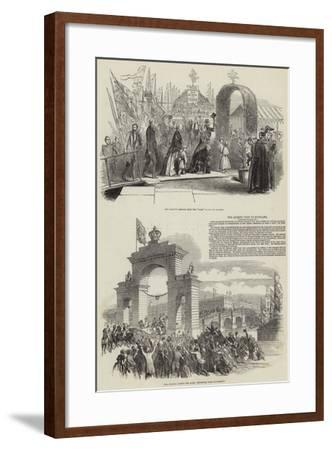 The Queen's Visit to Scotland--Framed Giclee Print