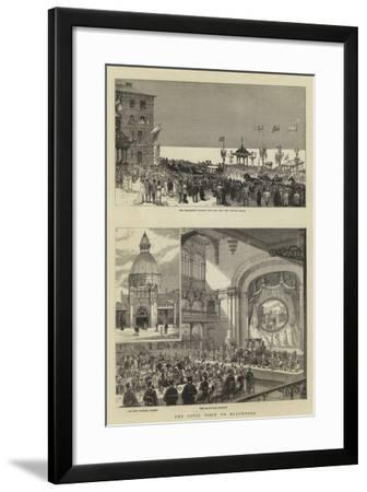 The Civic Visit to Blackpool--Framed Giclee Print
