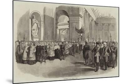 Candlemas at St Peter'S, Rome--Mounted Giclee Print