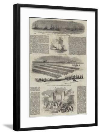 Her Majesty's Visit to France--Framed Giclee Print