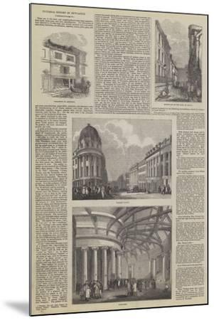 Pictorial History of Newcastle--Mounted Giclee Print