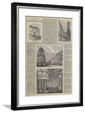 Pictorial History of Newcastle--Framed Giclee Print