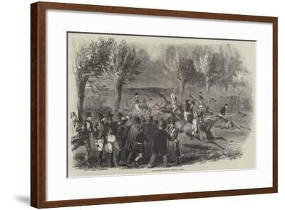 The Great French Steeple Chase--Framed Giclee Print