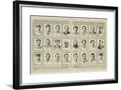 Some Representative Cricketers--Framed Giclee Print