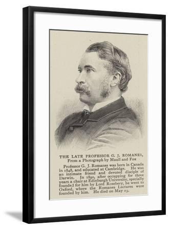 The Late Professor G J Romanes--Framed Giclee Print