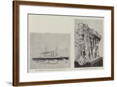 The New Battle-Ship Vengeance--Framed Giclee Print