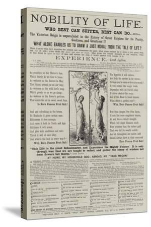 Advertisement, Eno's Fruit Salt--Stretched Canvas Print