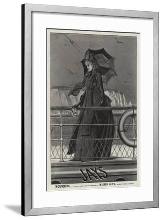 Advertisement, Jay's Mourning--Framed Giclee Print