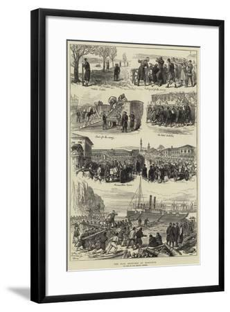 The War, Sketches at Rustchuk--Framed Giclee Print