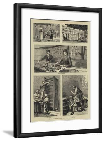 Silk Manufacture in the Lebanon--Framed Giclee Print