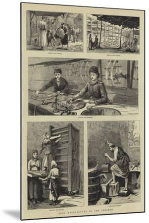 Silk Manufacture in the Lebanon--Mounted Giclee Print