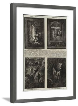 The Explorations at Jerusalem--Framed Giclee Print
