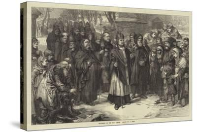 Procession of the Holy Thorn--Stretched Canvas Print