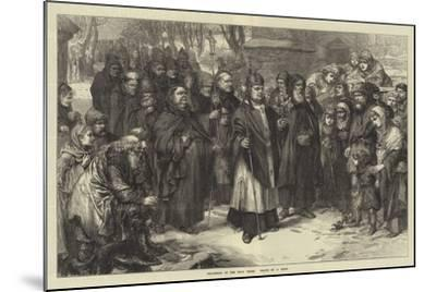 Procession of the Holy Thorn--Mounted Giclee Print