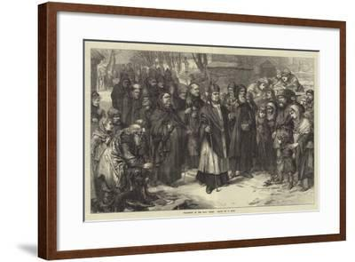 Procession of the Holy Thorn--Framed Giclee Print
