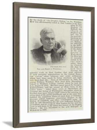 The Late Bishop of Wakefield--Framed Giclee Print