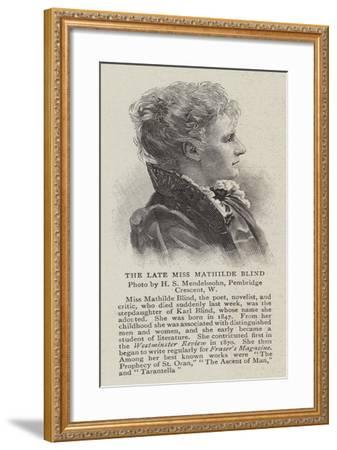 The Late Miss Mathilde Blind--Framed Giclee Print